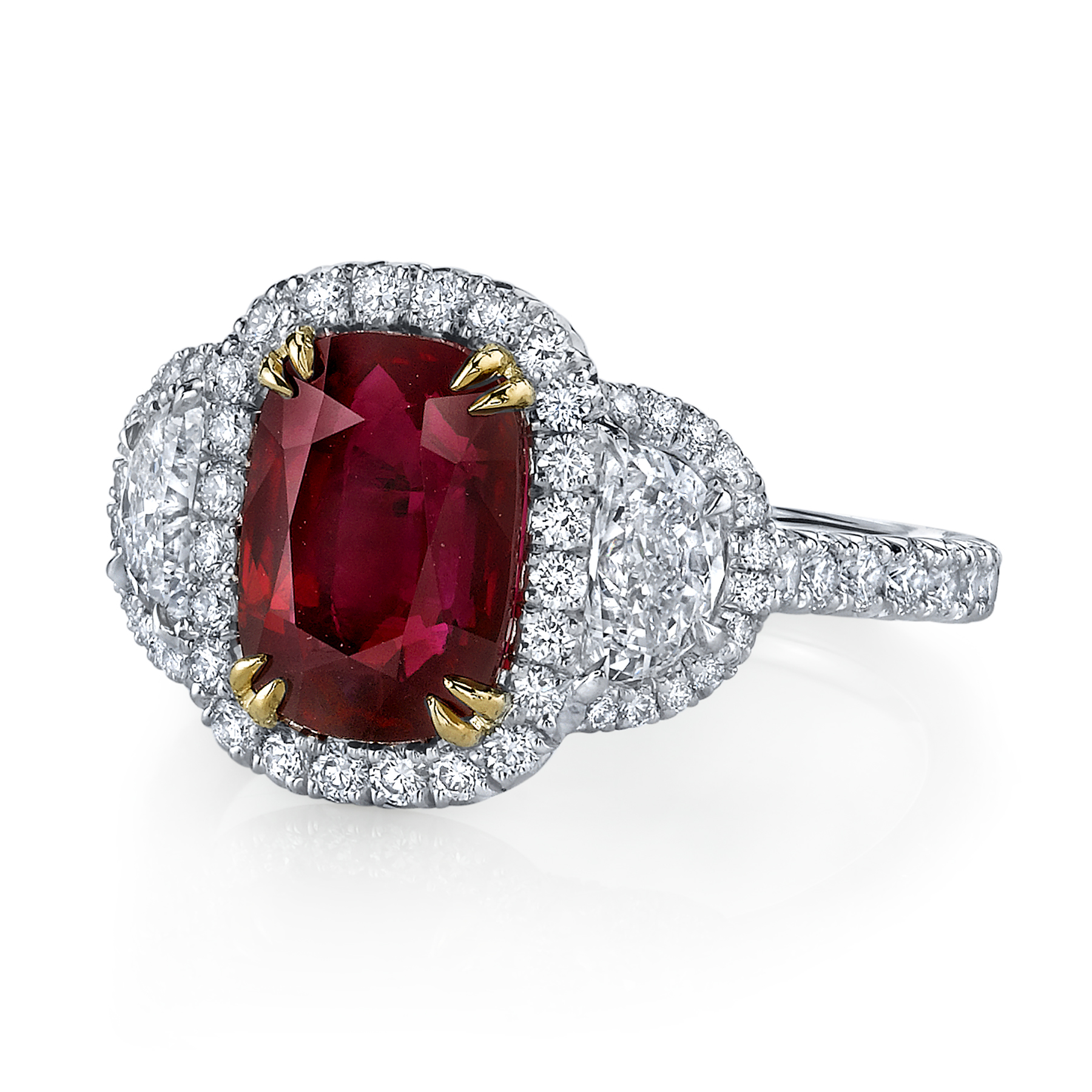 omi privé paints the wedding red with rubies and diamonds on my